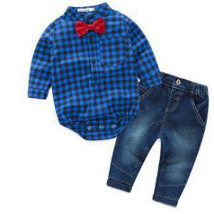 romper shirt & jeans boys