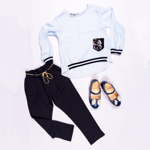 Trouser with matching tops