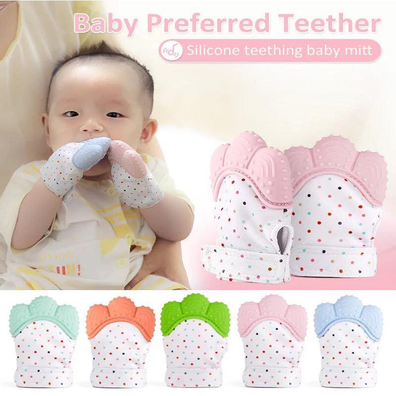 Baby teether glove