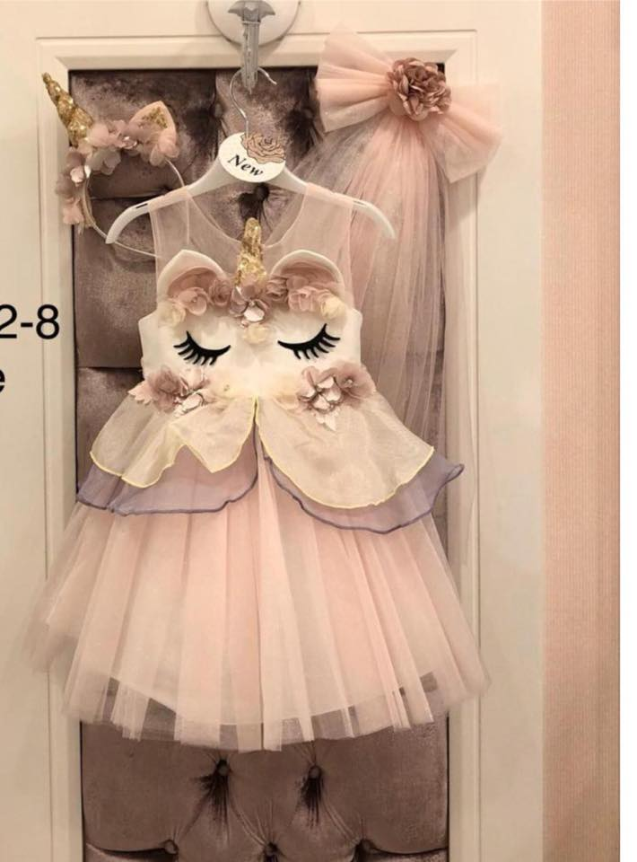 Unicorn dress with tiara
