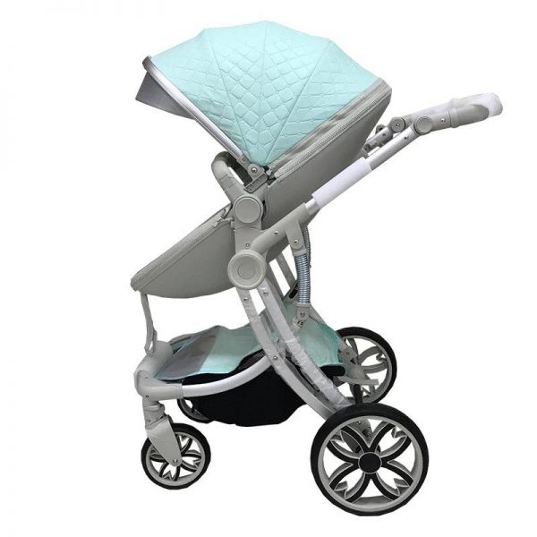2 in 1 leather stroller